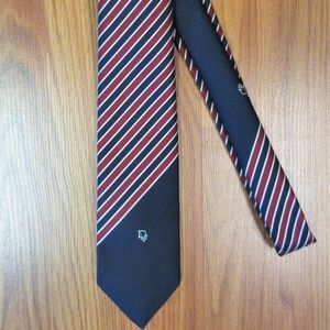 VTG CHRISTIAN DIOR NECKTIE NAVY/RED/WHITE